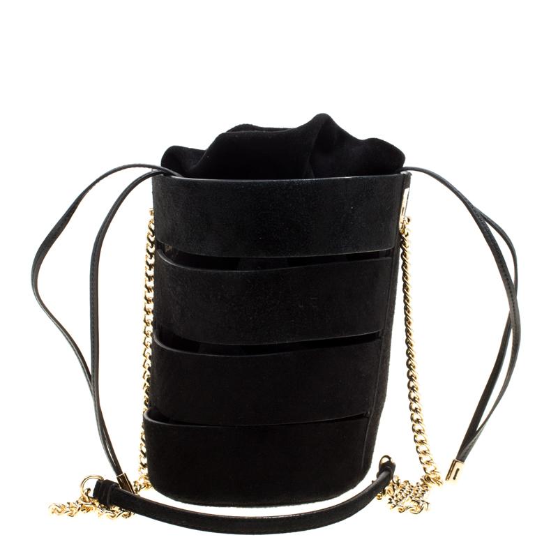 05dd33fdc114 ... Salvatore Ferragamo Black Suede Cocktail Bucket Bag. nextprev. prevnext