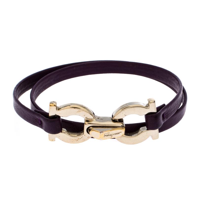 Salvatore Ferragamo Purple Leather