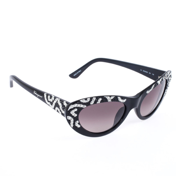 0606d175d53b ... Salvatore Ferragamo Black and Silver Limited Edition 625SR Womens Cat  Eye Sunglasses. nextprev. prevnext