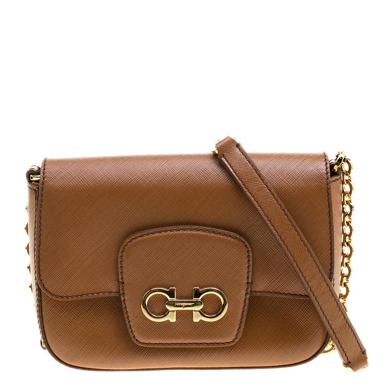 d14f431d57a8 ... Salvatore Ferragamo Tan Saffiano Leather Paris Crossbody Bag. nextprev.  prevnext