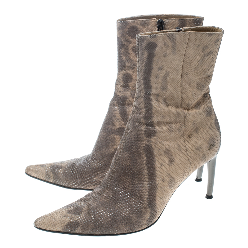 Naot Womens Brown Tan Leather Ankle Boots Heel Size 38   eBay