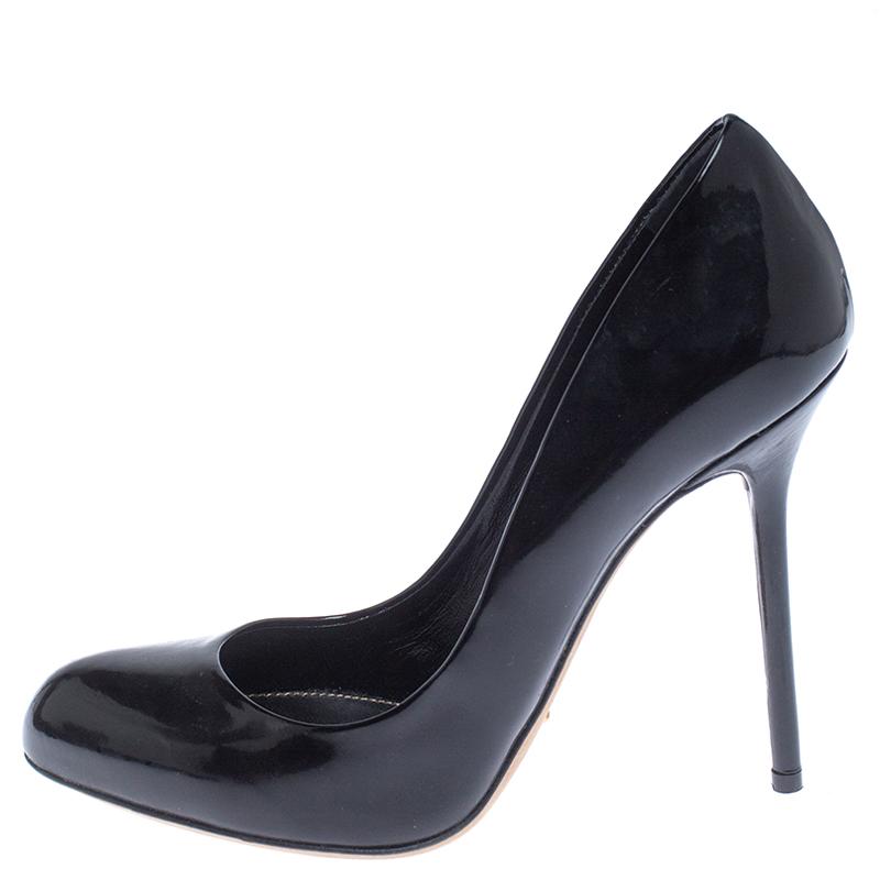 Sergio Rossi Black Patent Leather Kalika Pumps Size