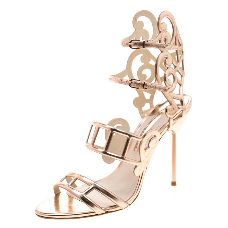 Sophia Webster Metallic Rose Gold Cut