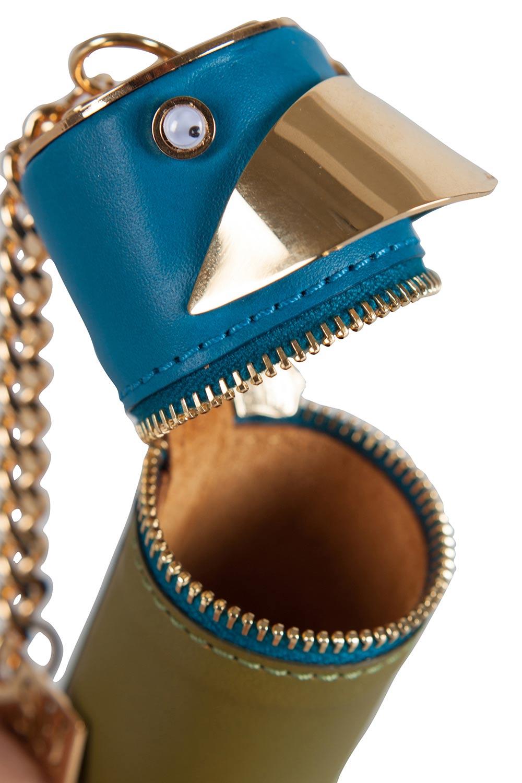Sophie Hulme Olive Vert/Bleu Perruche Sac De Charme