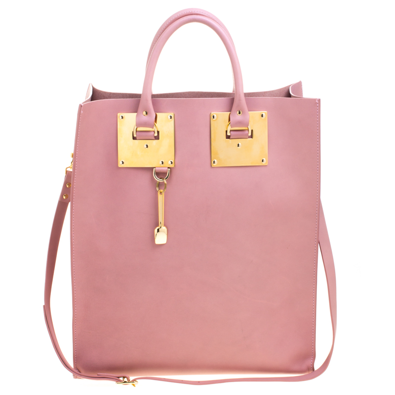 Sophie Hulme Blush Pink Leather Albion Tote