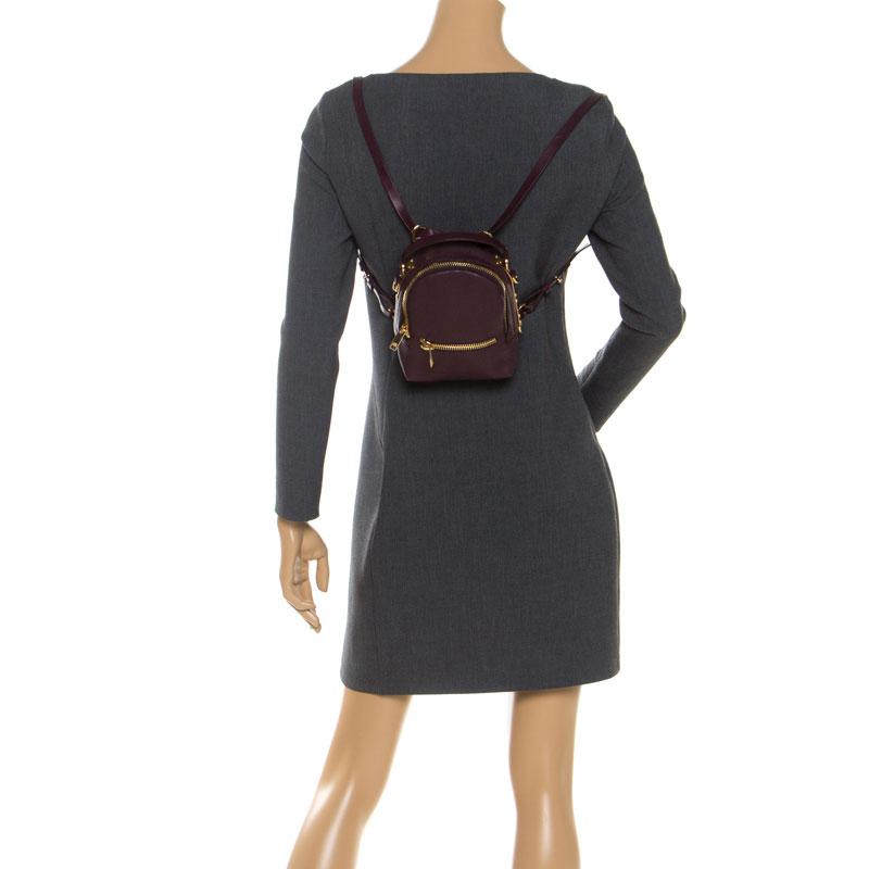 Sophie Hulme Burgundy Leather Mini Sac À Dos Wilson