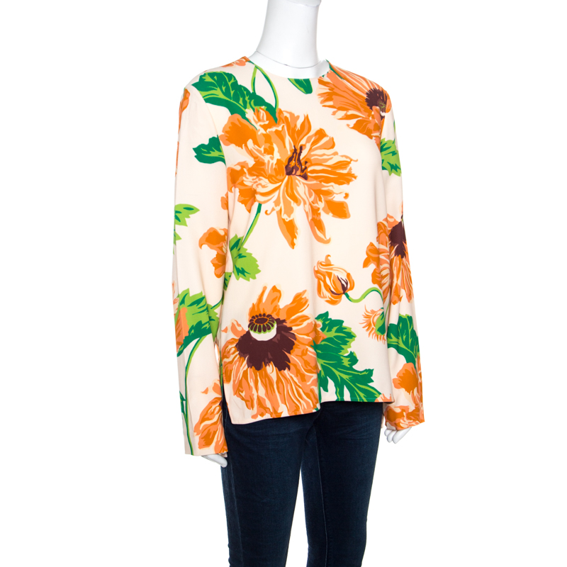 Stella McCartney Multicolor Large Poppy Printed Louisa Blouse