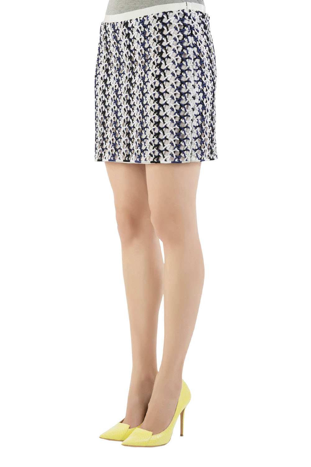 Stella McCartney Multicolor Interloop Cutwork Mini Skirt