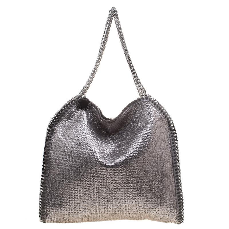 6bf8a8f525ce2 ... Stella McCartney Metallic Silver Boucle Fabric Small Falabella Tote.  nextprev. prevnext