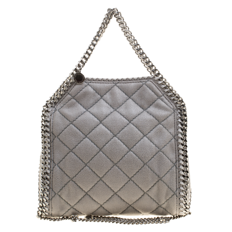 ... Stella McCartney Light Grey Quilted Faux Suede Mini Falabella Tote.  nextprev. prevnext d66941b95dd39