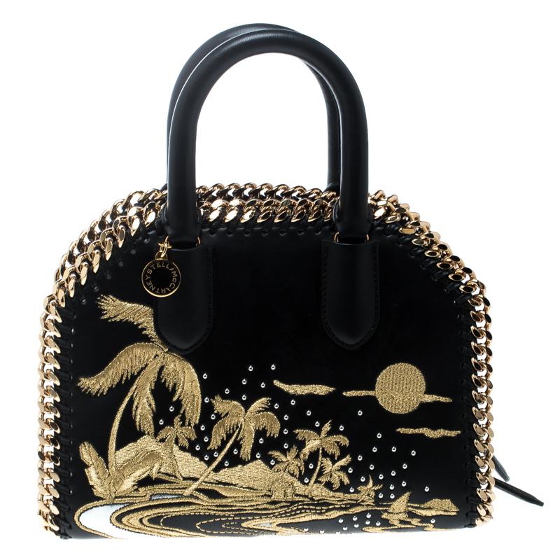 ... Stella McCartney Black Leather Tiny Hawallan Embroidered Top Handle Shoulder  Bag. nextprev. prevnext 1ddbee7d57bcb