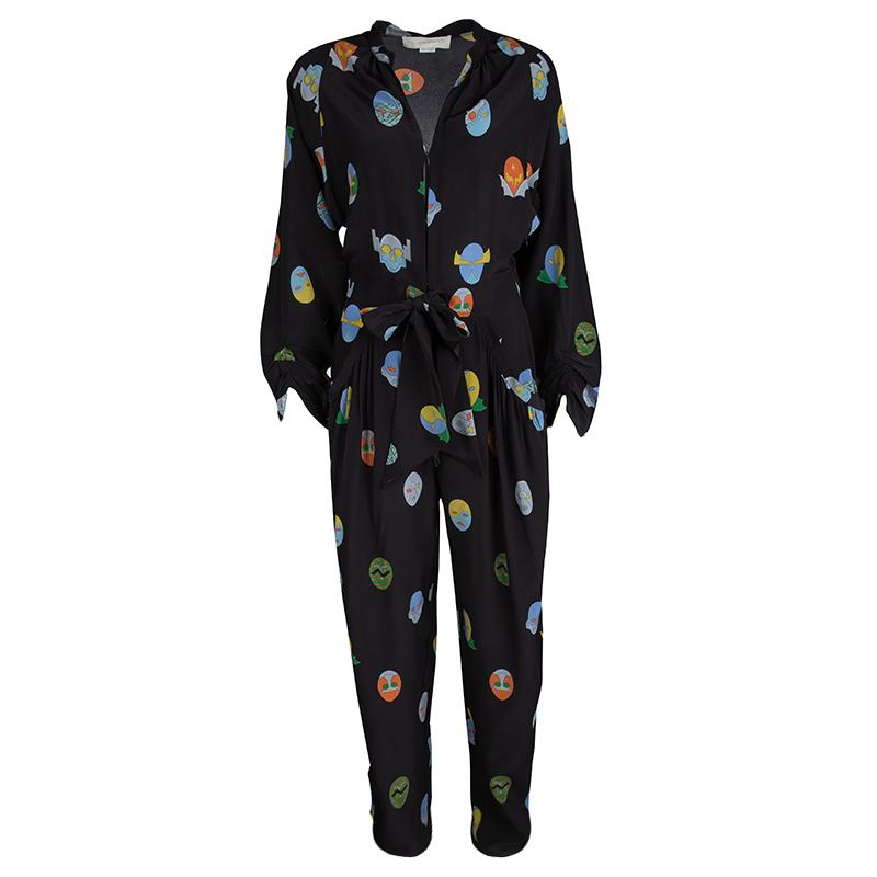 e91d48dd5e37d ... Stella McCartney Black Monia Superhero Print Jumpsuit S. nextprev.  prevnext