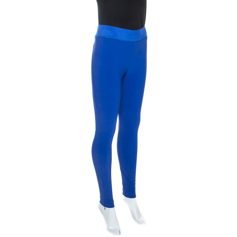 Stella McCartney Bleu En Coton Stretch Taille Élastique Skinny Pantalon S