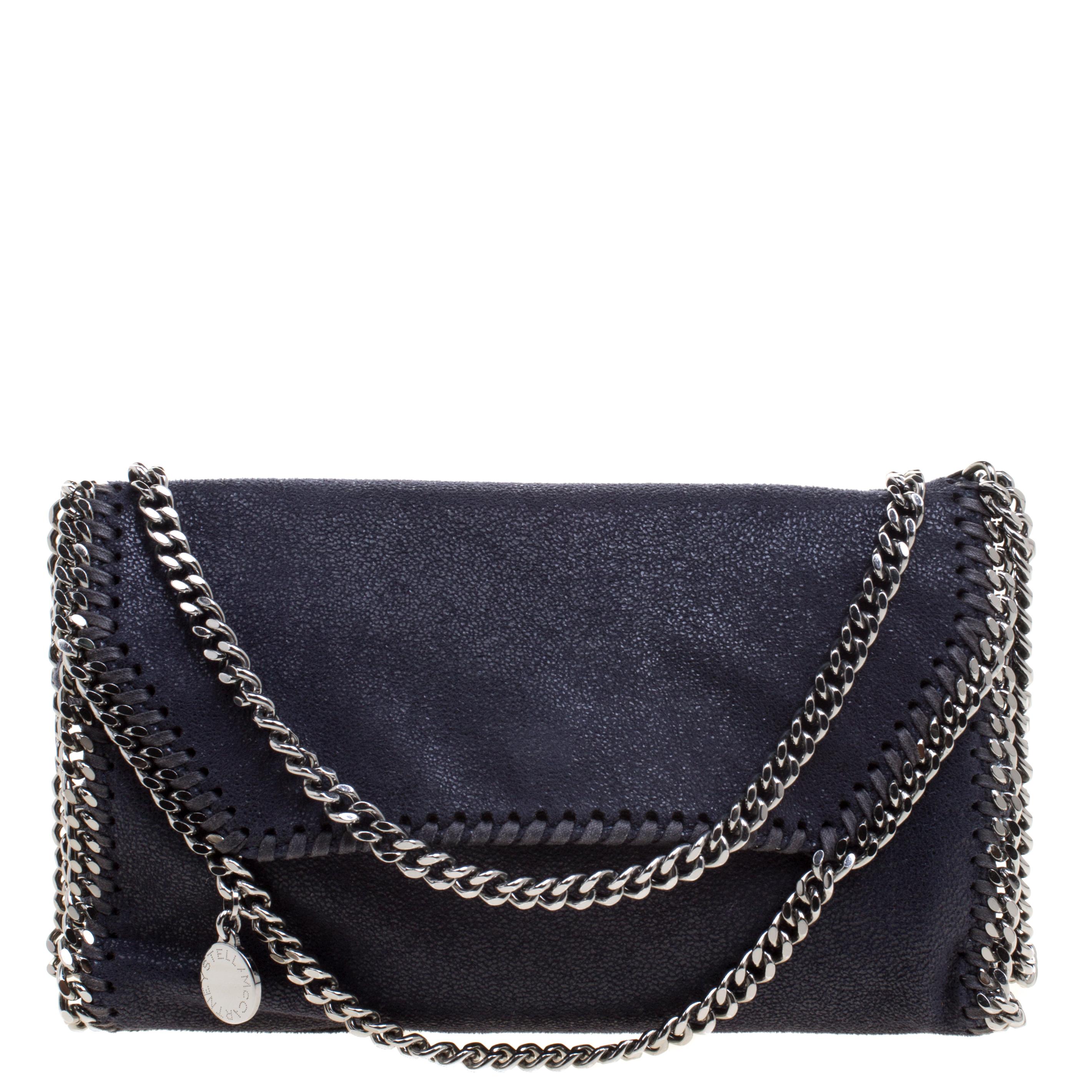 33e6741c30c8 ... Stella McCartney Navy Blue Faux Leather Falabella Shoulder Bag.  nextprev. prevnext