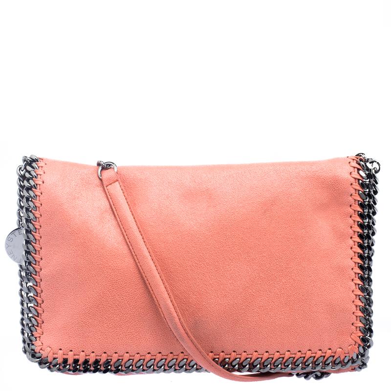 3743bb19b0 ... Stella McCartney Peach Faux Leather Falabella Shoulder Bag. nextprev.  prevnext