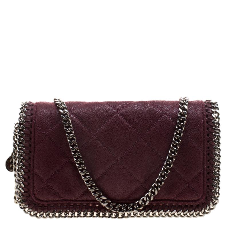640883552ec ... Stella McCartney Burgundy Faux Leather Falabella Crossbody Bag.  nextprev. prevnext