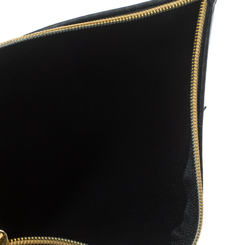Купить со скидкой Stella McCartney Black Faux Leather Zip Pouch