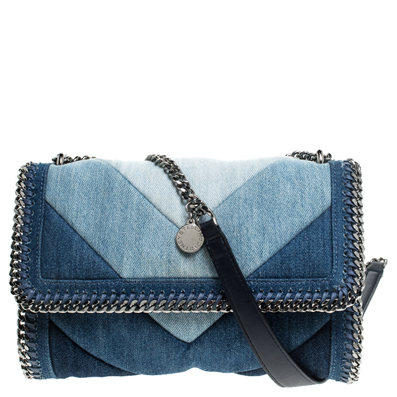 Stella McCartney Blue Eco Denim Falabella Shoulder Bag