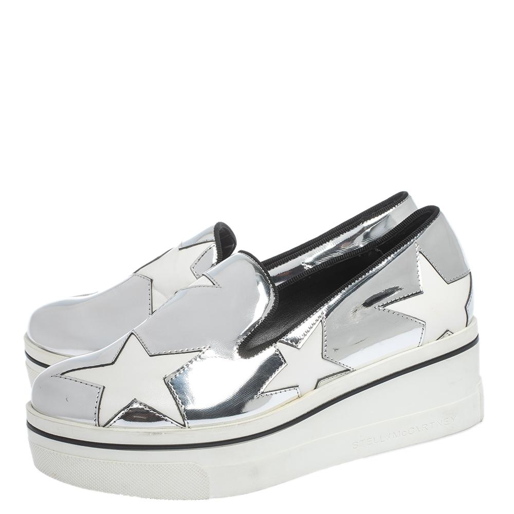 Stella McCartney Metallic Silver White
