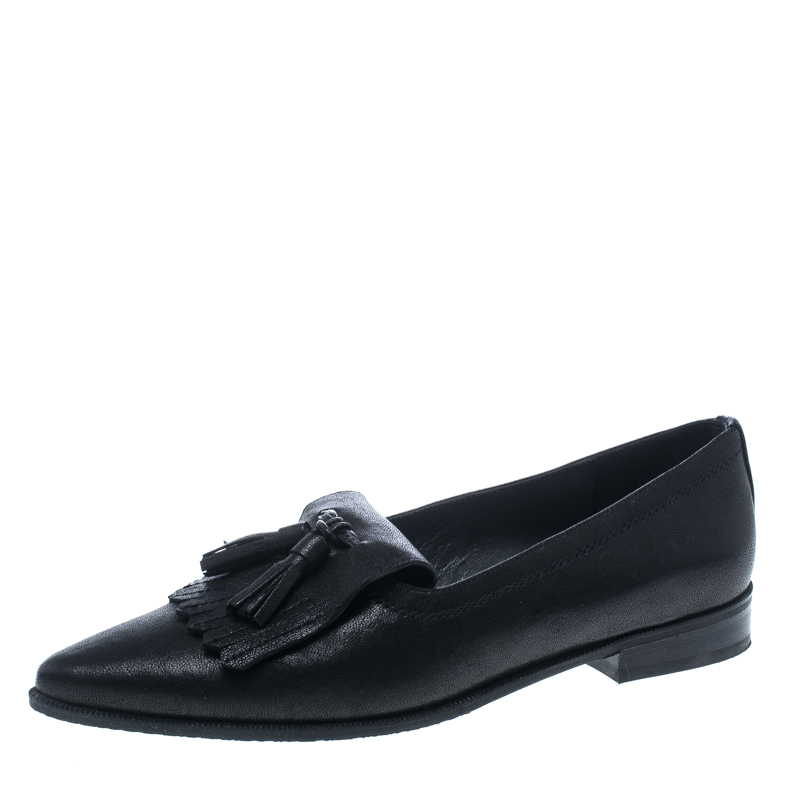 e0e6a4c2ef9 ... Black Leather Avatass Pointed Toe Loafer Flats Size 38.5. nextprev.  prevnext