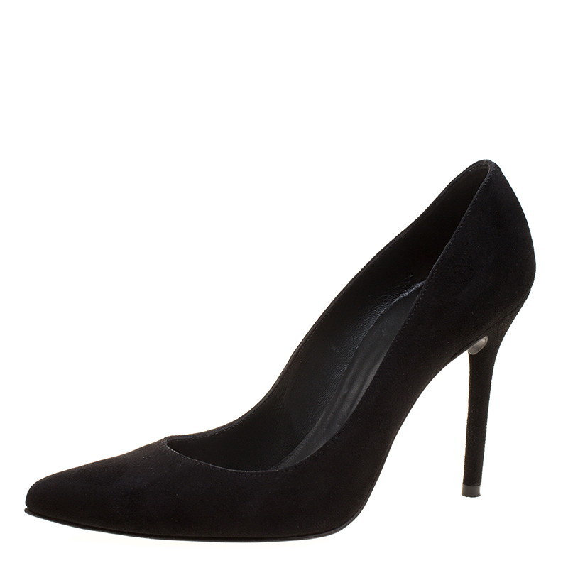 2ad0d10be5b Buy Stuart Weitzman Black Suede Nouveau Pointed Toe Pumps Size 38 ...