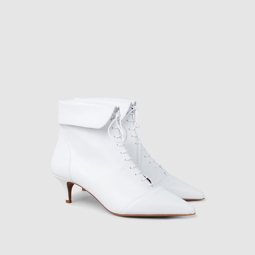 Tabitha Simmons White Larkin Leather