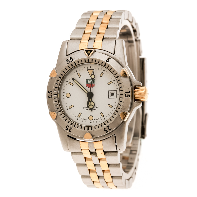 Tag Heuer Silver Grey Stainless Steel 1500 Series Professional 200 Wd1421 Po Women S Wristwatch 27 Mm