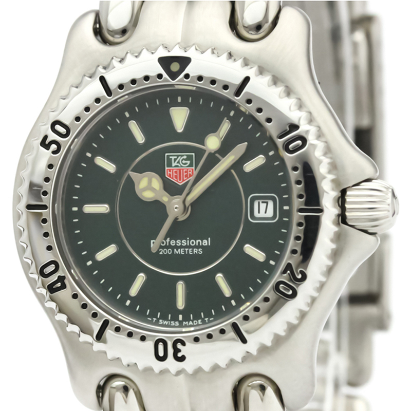 Tag Heuer en acier Inoxydable Noir en Acier Sel Professionnel 200M WG1319 Femmes montre-Bracelet à 28 MM