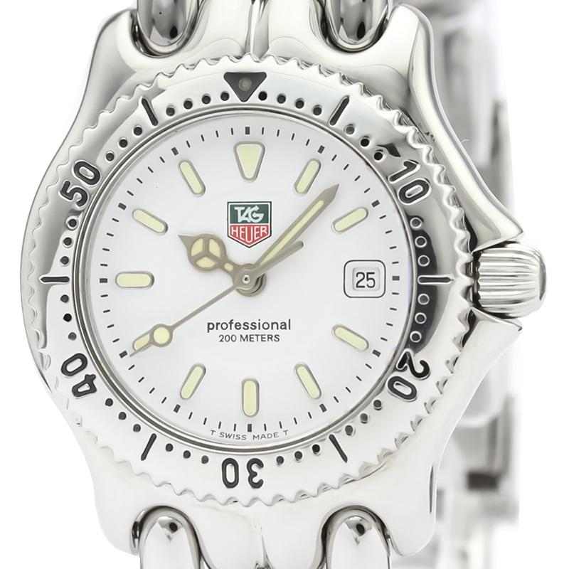 Tag Heuer Blanc en Acier Inoxydable Sel Professionnel 200M WG1310 Femmes montre-Bracelet à 28 MM