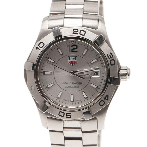 5c23364be18 ... Tag Heuer Silver Stainless Steel Aquaracer Women s Wristwatch 27MM.  nextprev. prevnext