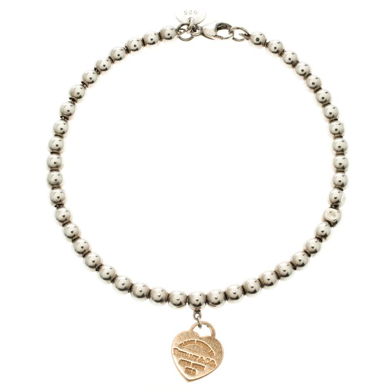 eaa4301b7 Return To Tiffany Heart Tag Rose Gold & Silver Bead Bracelet. nextprev.  prevnext