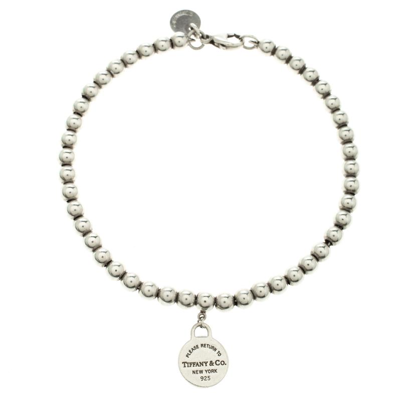 100751ec7 Buy Tiffany & Co. Return to Tiffany Round Tag Silver Bead Bracelet ...