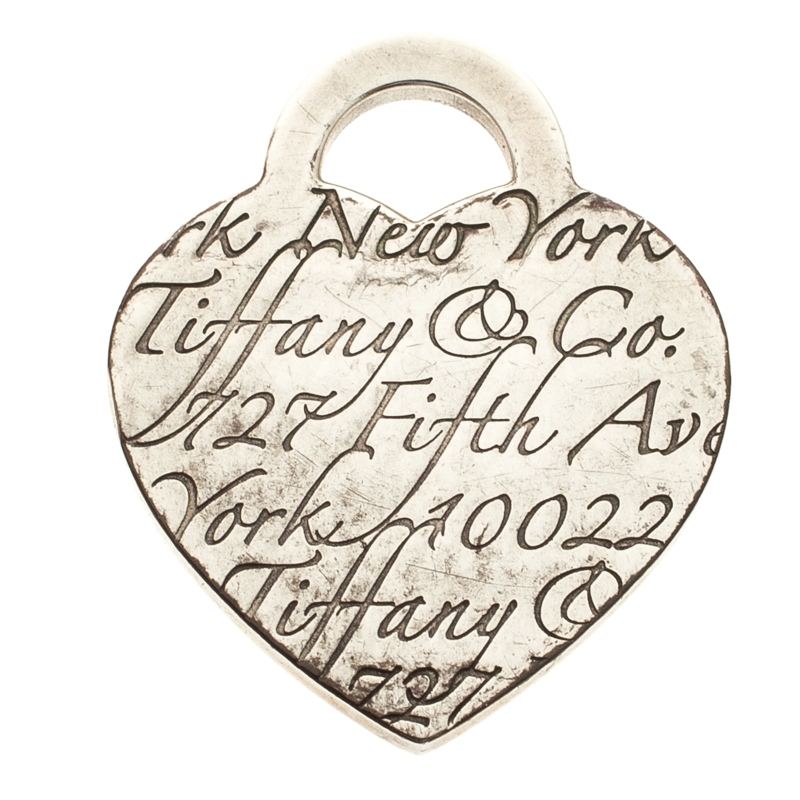 a07b152e2 Buy Tiffany & Co. Fifth Avenue New York Note Heart Silver Pendant ...