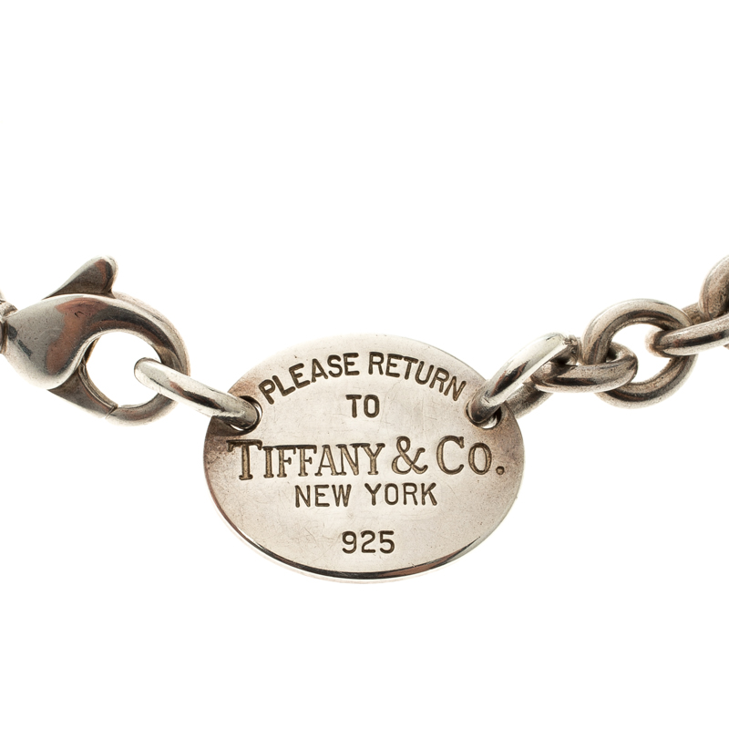 952fb9c11 Buy Tiffany & Co. Return to Tiffany Oval Tag Silver Necklace 119324 ...