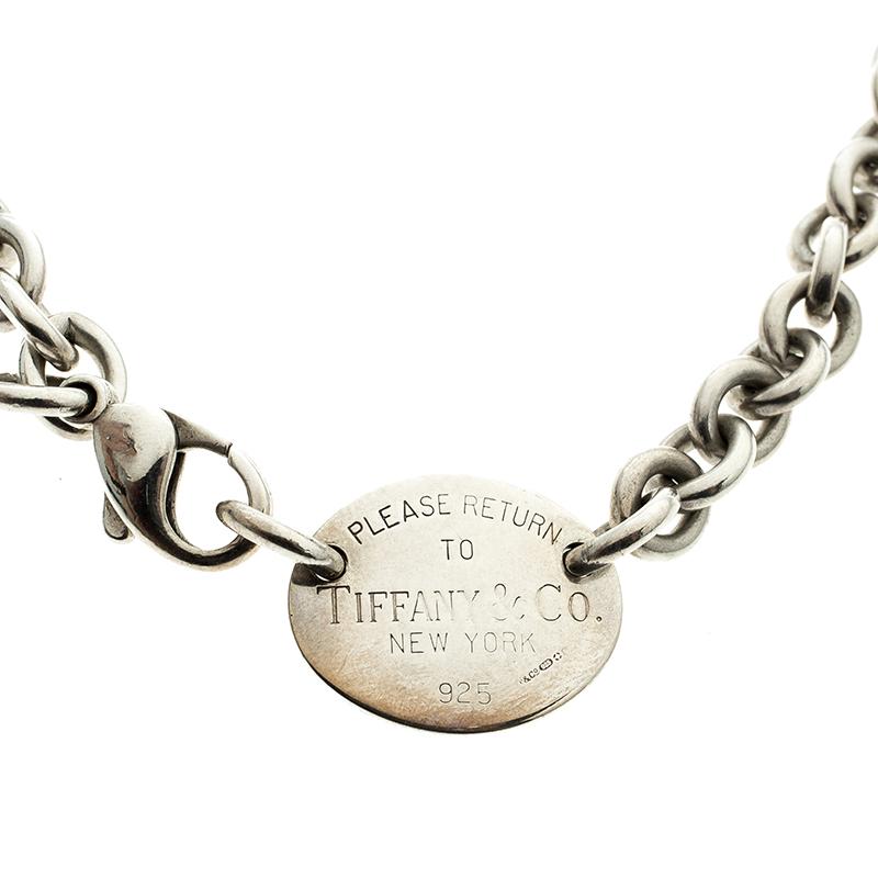 cf22c4ece Buy Tiffany & Co. Return to Tiffany Oval Tag Silver Choker Necklace ...