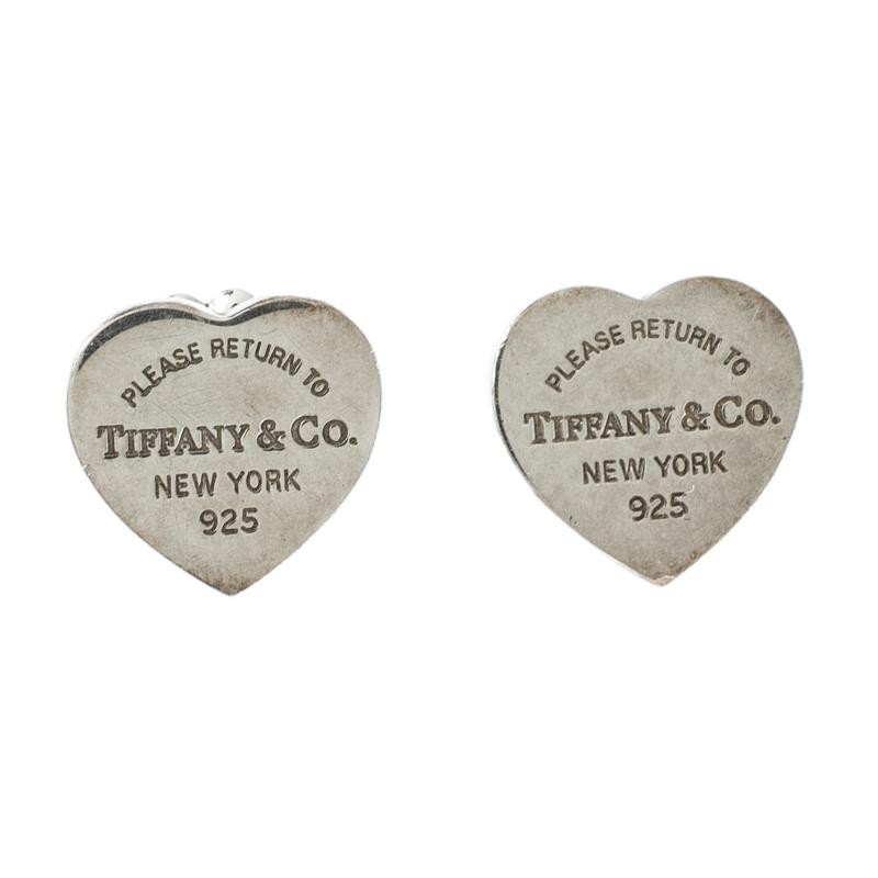 ff02984c3d3a0 Tiffany & Co. Return To Tiffany Mini Heart Tag Silver Stud Earrings