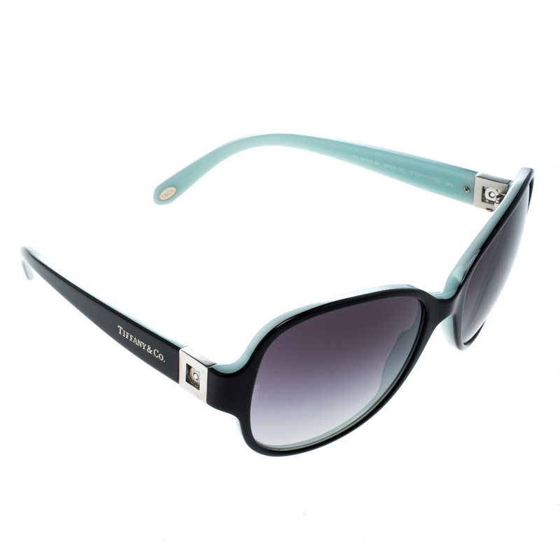 e82969bfd2d6 Buy Tiffany   Co. Black Tiffany Blue TF 4046-B Butterfly Sunglasses ...