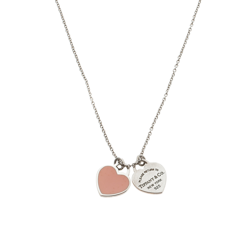 e11f06359 Return To Tiffany Double Heart Tags Silver Chain Necklace. nextprev.  prevnext