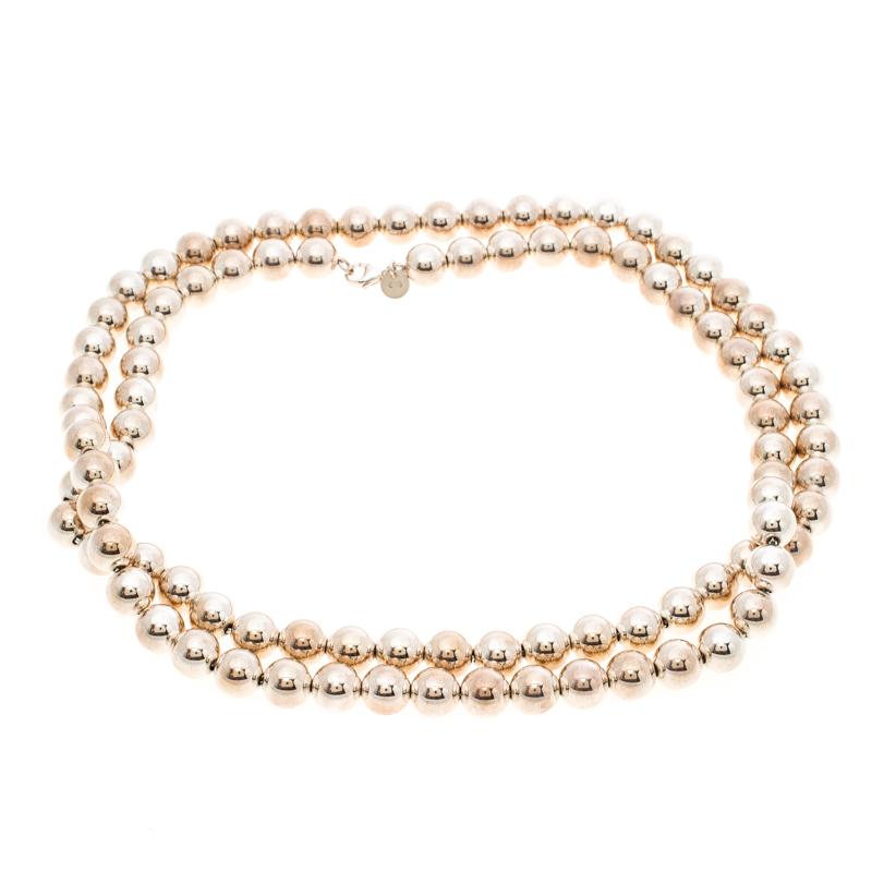 6b9726795 Buy Tiffany & Co. HardWear Silver Bead Ball Long Necklace 154369 at ...