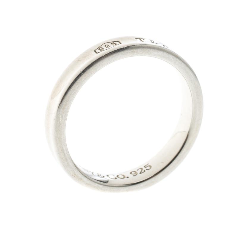 37c5962f3fbbd Tiffany & Co.1837 Silver Band Ring Size 58