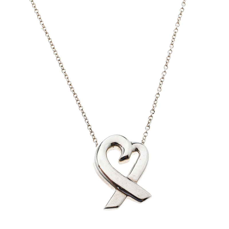 7632168b8 Paloma Picasso Loving Heart Silver Pendant Necklace. nextprev. prevnext