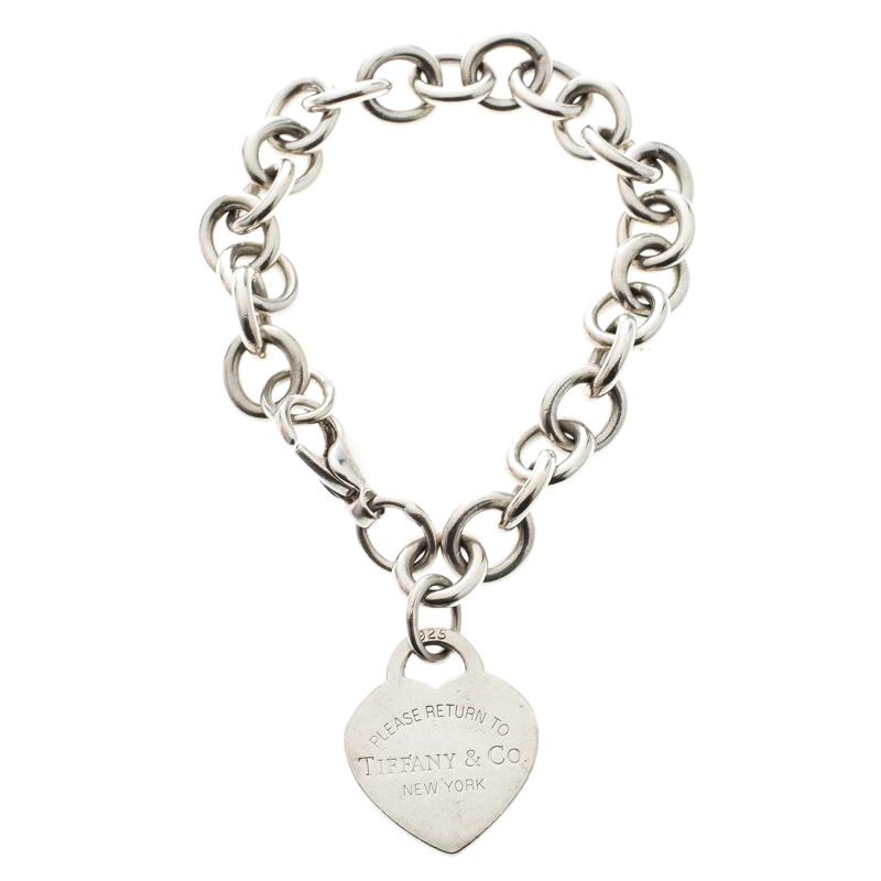1300302fd Buy Tiffany & Co. Return to Tiffany Heart Tag Silver Bracelet 167155 ...