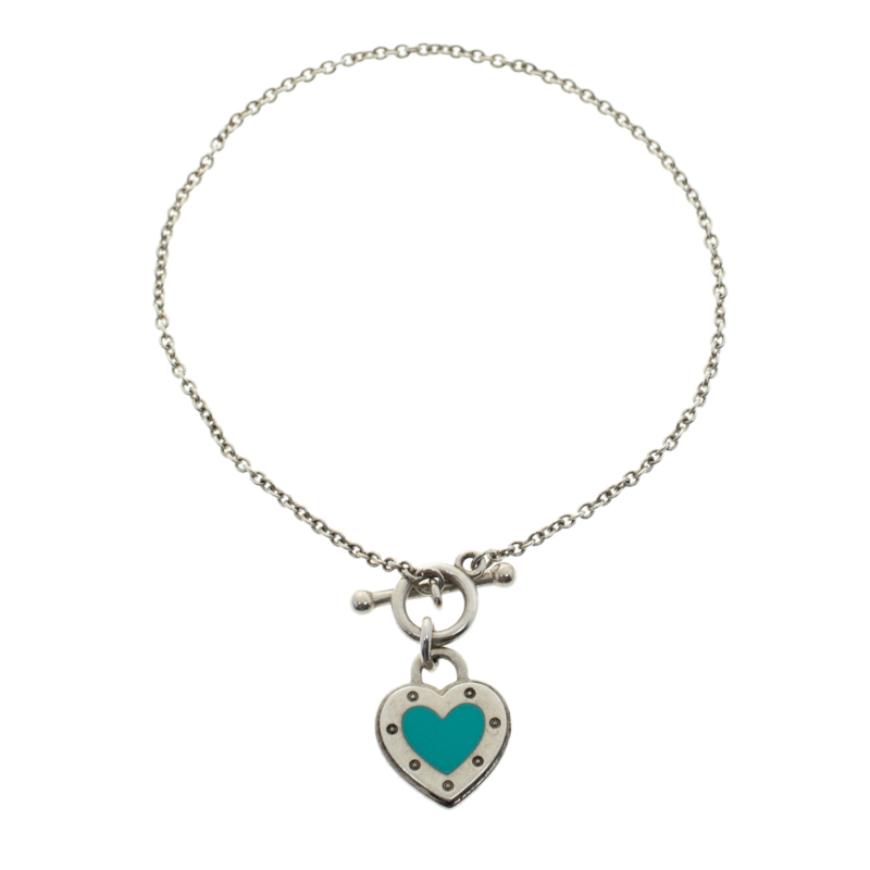 4daff706b Return To Tiffany Love Heart Tag Toggle Sterling Silver Bracelet. nextprev.  prevnext