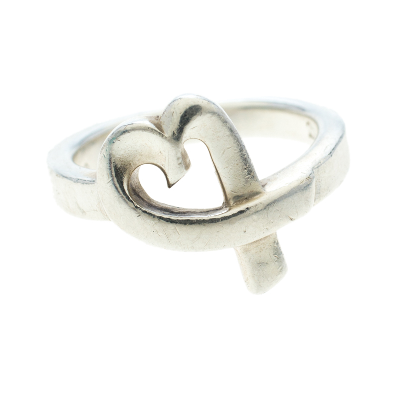 5b82c58ba Buy Tiffany & Co. Paloma Picasso Loving Heart Silver Ring Size 52.5 ...