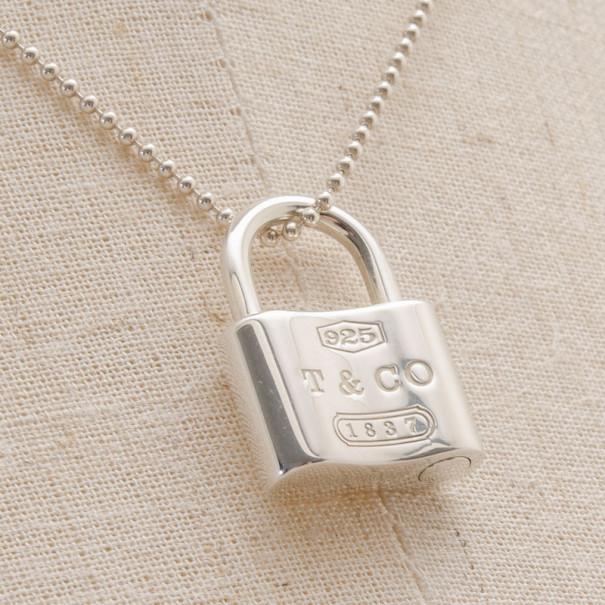 ff3326694e2fc Tiffany & Co.1837™ Silver Lock Pendant 16