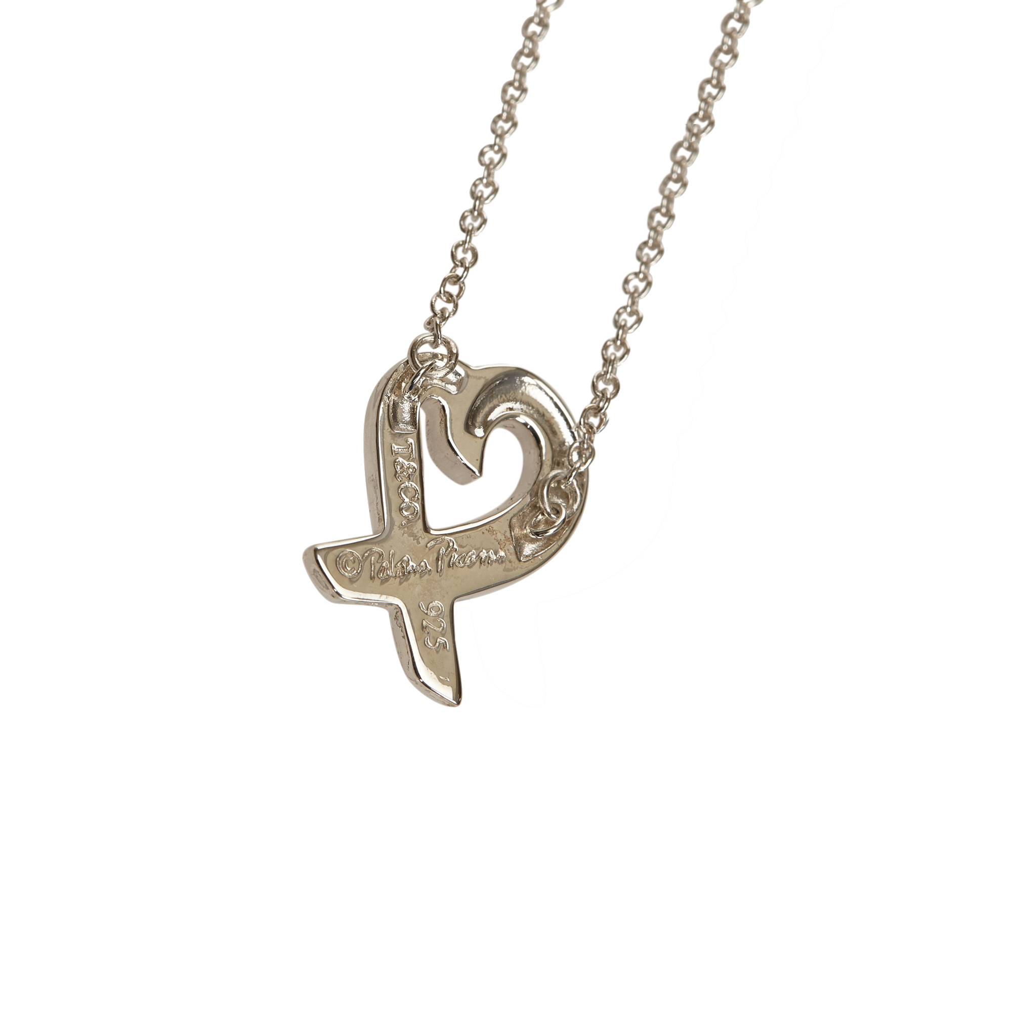 baf87740b Paloma Picasso Loving Heart Silver Pendant Necklace. nextprev. prevnext