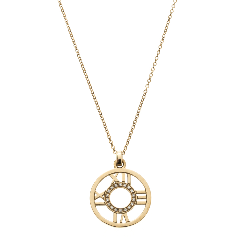fdbef7c58 Buy Tiffany & Co. Atlas Diamond 18k Yellow Gold Open Pendant ...