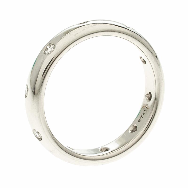 a30607eac225 Buy Tiffany   Co. Etoile Diamond   Platinum Band Ring Size 56 120489 ...