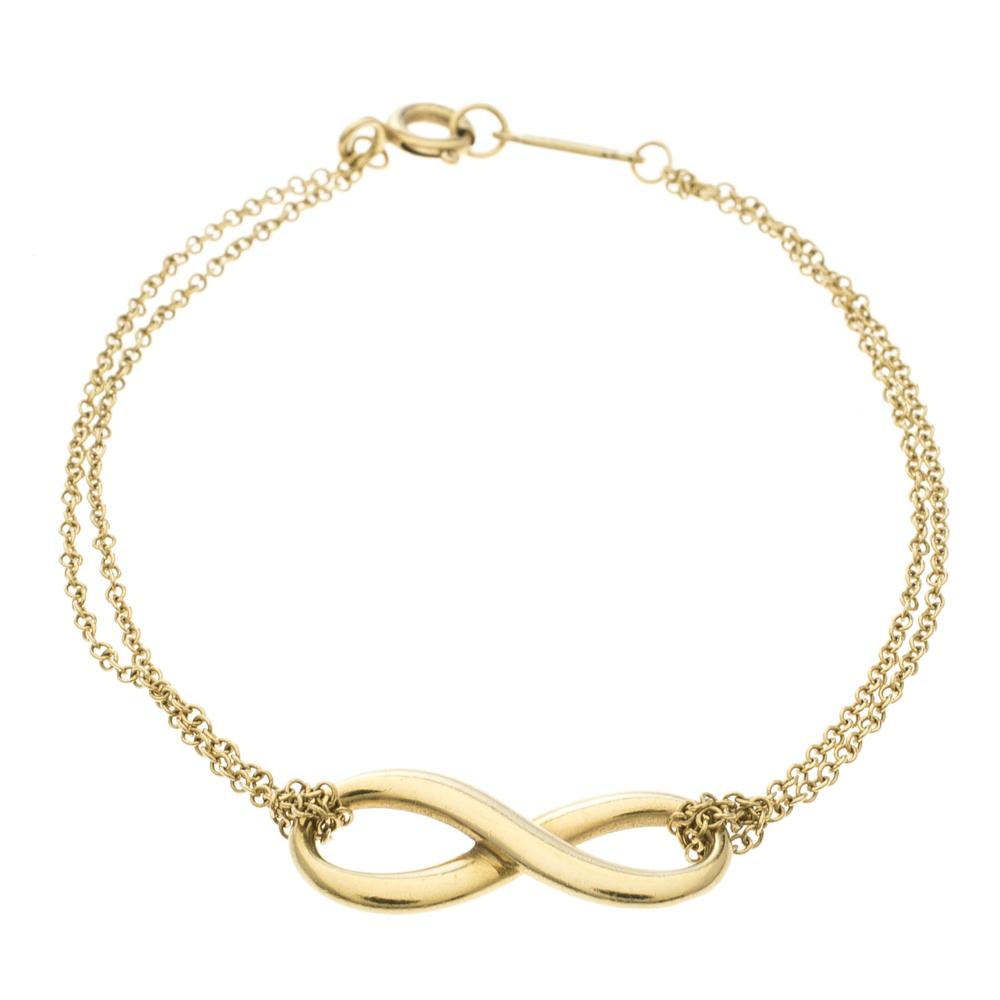 90e8ef3191c304 Buy Tiffany & Co. Infinity 18k Gold Bracelet 124452 at best price | TLC