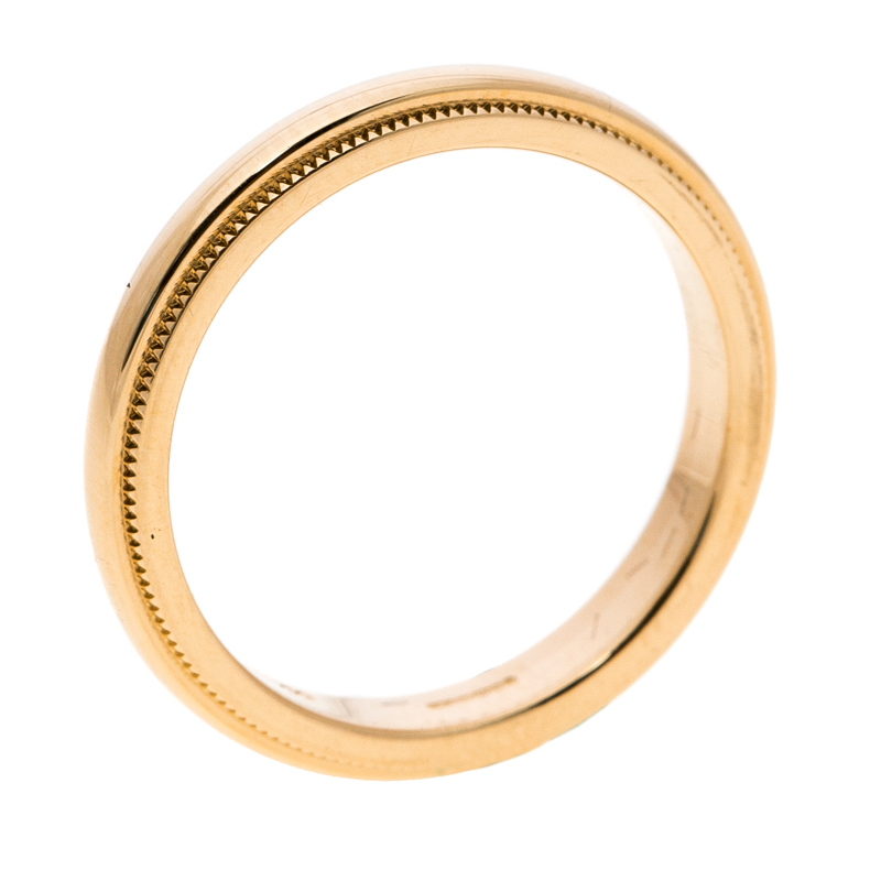 Buy Tiffany & Co. Classic Milgrain 18k Yellow Gold Wedding